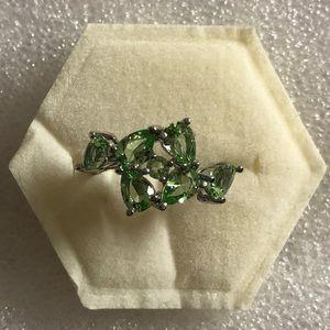 925 silver Green Tsavorite Garnet Ring